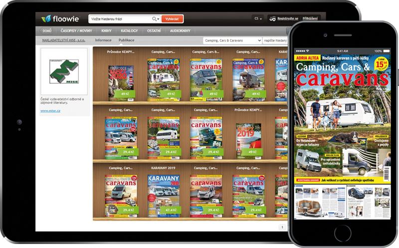 Předplatné časopisu Camping, Cars & Caravans – elektronická verze