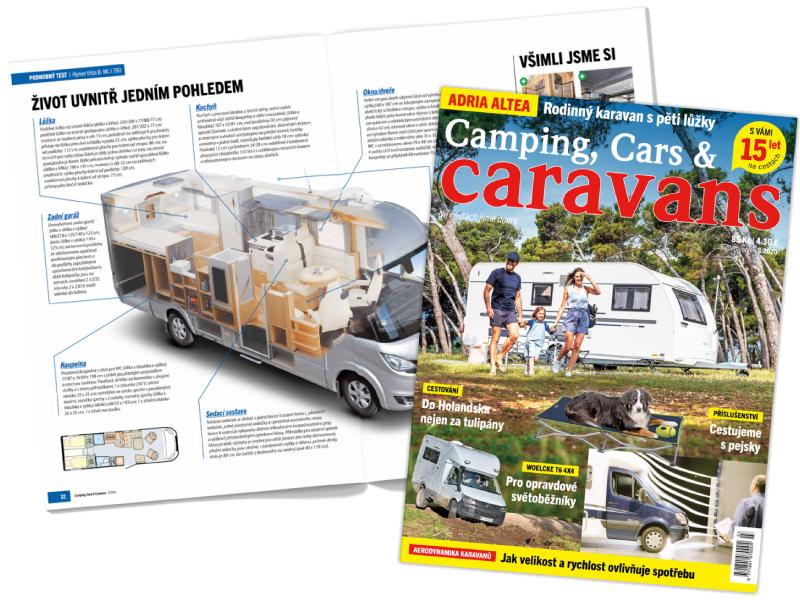 Předplatné časopisu Camping, Cars & Caravans - tištěná verze